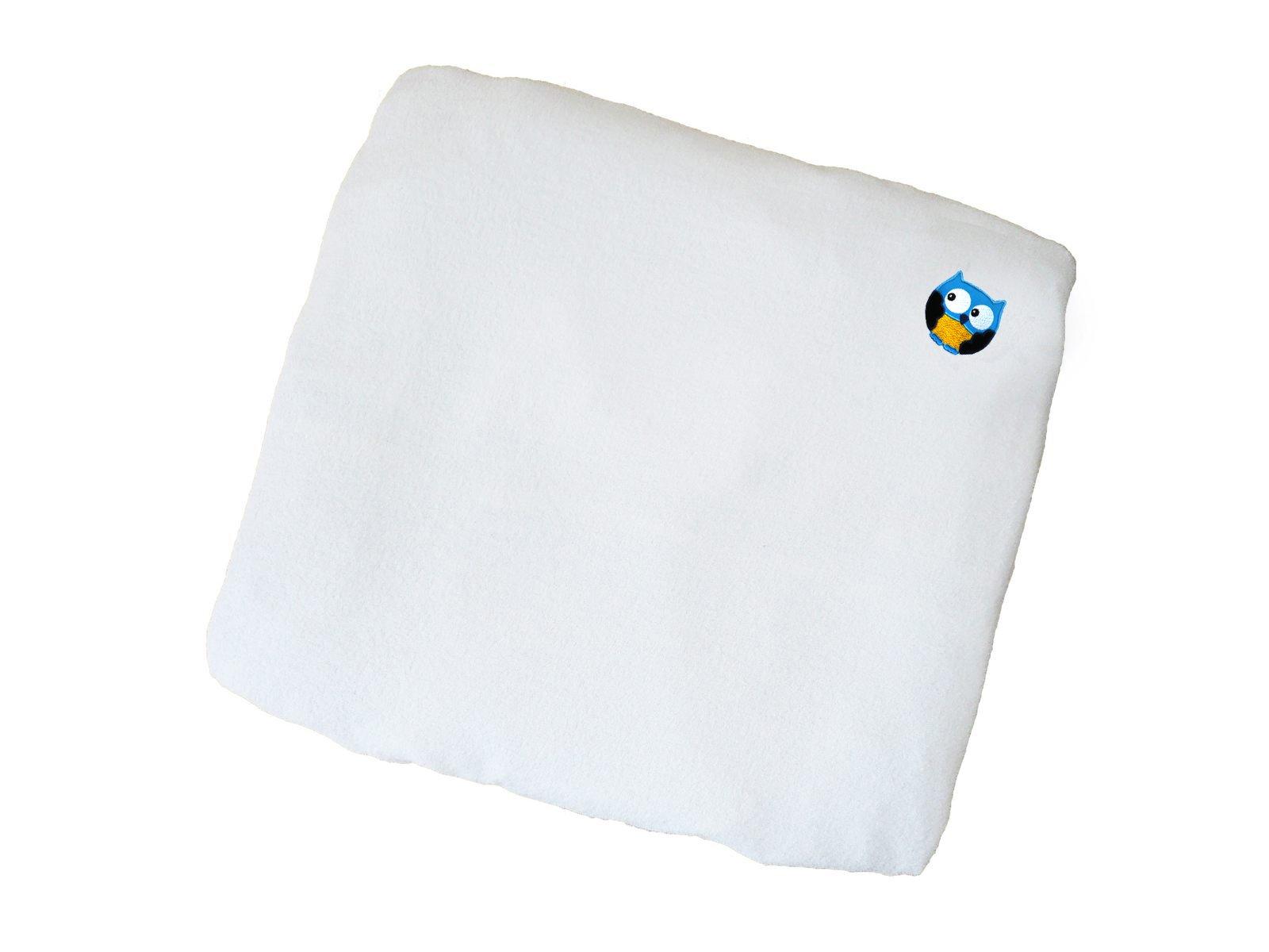 Linden 25701 Coprimaterasso Fasciatoio con Applicazione, Bianco, 75 x 85 cm