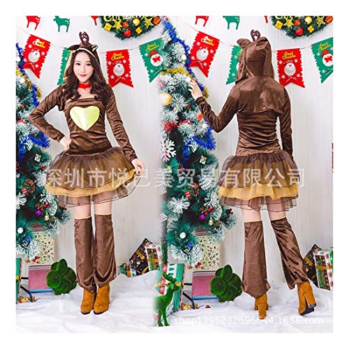 Santa Kostüm Weiblich - SDLRYF Weihnachtsmann Kostüm Santa Claus Kostüm