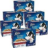 Felix Tendres Effilés en gelée Repas pour chat adulte Viandes 12 x 100 g - Lot de 6 (72 sachets fraicheurs)