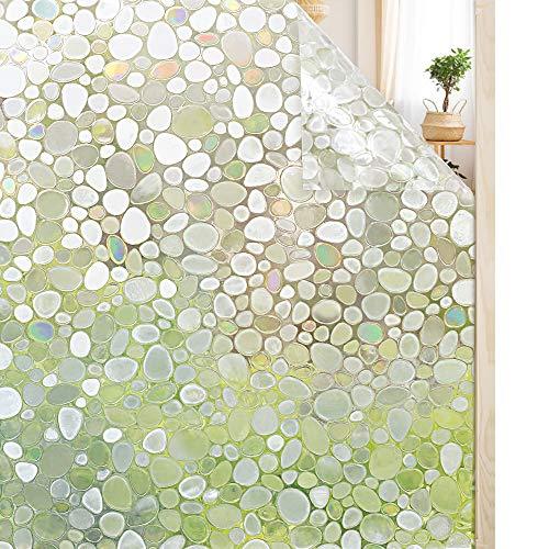 Rabbitgoo pellicola adesiva pellicola per finestre vetri pellicola decorativa-3d bolle decorativa,autoadesive,anti-uv,controllo di calore60cm x 200cm