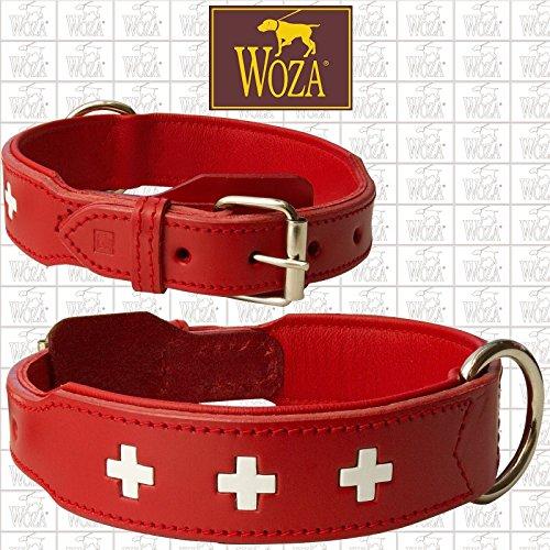Woza Exclusive HUNDEHALSBAND 3,8/70CM Swiss Berner SENNNHUND Vollleder SATTLERNAHT RINDNAPPA Handmade Collar
