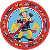 101-teiliges * FEUERWEHRMANN SAM * PARTY SET für Kindergeburtstag mit 8 Kinder: Teller, Becher, Servietten, Trinkhalme, Einladungen, Partytüten, Luftballons, Luftschlangen, u.v.m. von Riethmüller // Motto Deko Fest Kinder Geburtstag Kinderparty FEUERWEHRMANN Feuerwehr Fireman Vergleich