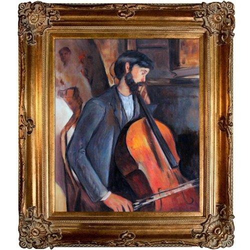 overstockart das Cellisten Öl Reproduktion eines Original Gemälde von Amedeo Modigliani, Renaissance Rahmen, Bronze-Finish