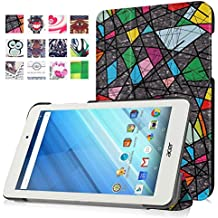 "Meimeiwu Acer Iconia ONE B1-850 8""Funda - Slim Fit Folio Smart Case Funda Tablet Carcasa con Stand para Acer Iconia ONE B1-850 8""- Church window"