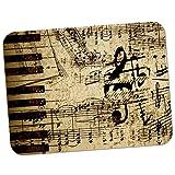 Vintage Grunge musique notes de tapis de souris en caoutchouc épais doux et confortable - Vintage Music Notes Old Paper