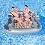 NEU riesige Luftmatratze Double Lounge 2,20m x 1,85m / Schwimminsel / Wasserspielzeug / Liege / baden / Wasserequipment