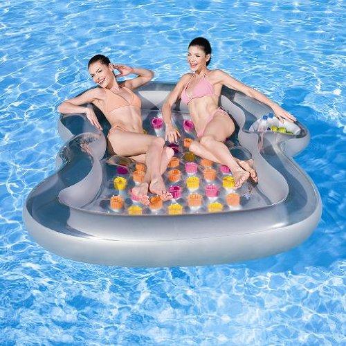 """NEU riesige Luftmatratze """"Double Lounge"""" 2,20m x 1,85m / Schwimminsel / Wasserspielzeug / Liege / baden / Wasserequipment"""