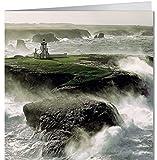 Grußkarte 16,5x16,5 cm +++ GEO von modern times +++ BEHÜTETES LICHT +++ BK-EDITION GEO © PLISSON, Philip
