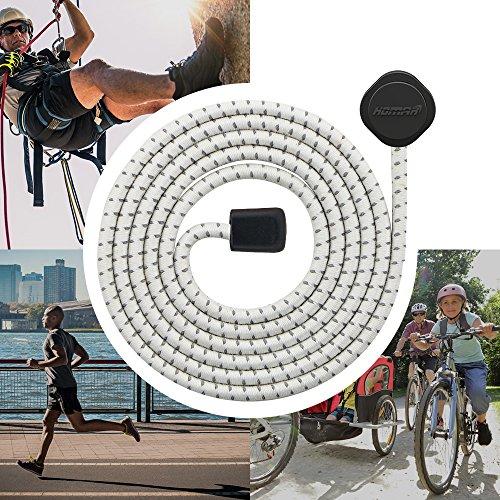 2 Paare HOMAR Sport Schnürsenkel für Kinder und Erwachsene - Feste Farben Schuhband Runde Nestel für Sneaker Rennschuh Stiefel Weiß