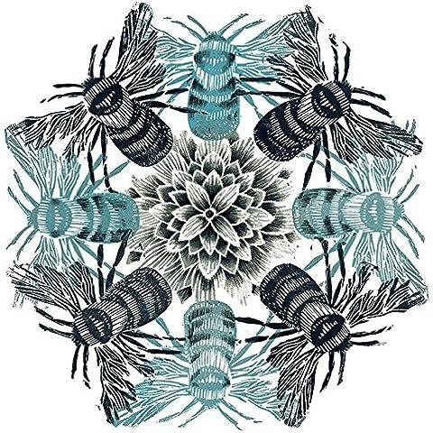 Amanda Colville Circle delle api su tela, 40 x 40 cm, motivo: impronte, colore: multicolore
