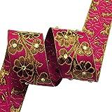 cinta de tela de suministro de artesanía decorativa 4,0 cm cinta ancha sari por el patio