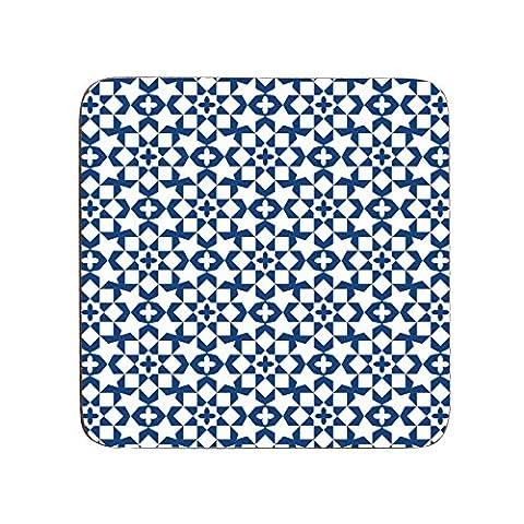 Casablanca Premier Housewares Lot de 4 dessous de verre-Bleu