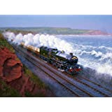 GWR County Castle Class Devon Engine Steam Locomotive Train Birthday Card