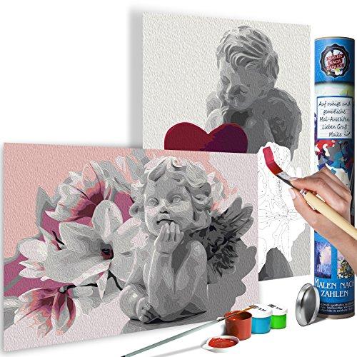 murando Malen nach Zahlen Engel 100x100 cm Malset mit 2 Motiven - Design Geschenk-Tube DIY Für Erwachsene und ambitionierte Kinder ab 12 - Perfekt für Hobbymaler n-A-0584-ab-r -