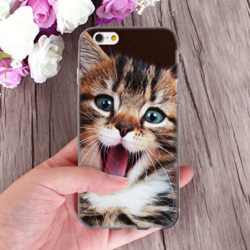 Ooh.Color elastico® Designer Custodia per Samsung Galaxy cellulari custodia protezione Case Cover Print Stylish Custodia morbida con motivo sottile flessibile bianco Cat APE001 für iPhone 7 Plus Cat APE001