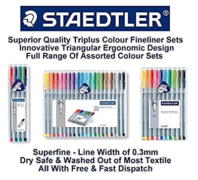 Staedtler Triplus Fineliner 334 SB10 Tips Desktop Box