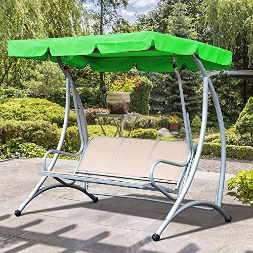 ZHANGZHIYUA Swing Canopy Ersatz, Garden Swing Top Cover 3-Sitzer Polyestergewebe UV-Block Sonnenschutz wasserdicht für den Außenbereich,190 * 132 * 15cm