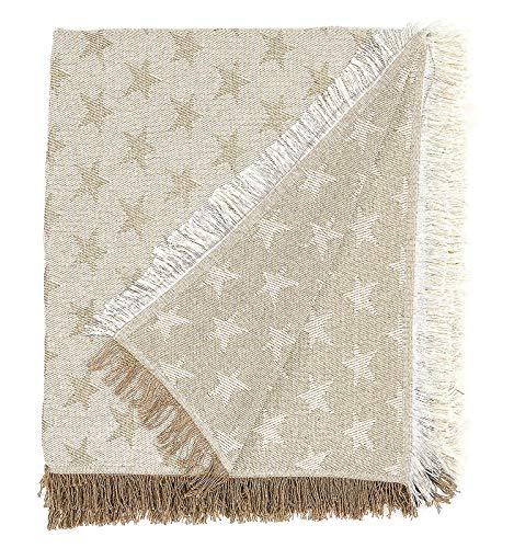Martina home foulard multiusos- Plaid modelo Estrella - tela 230x260 cm,color crudo...