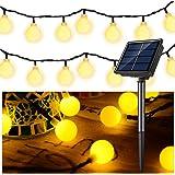 Solar String Light Fairy Lamp 30 LED 6 Meter Light Strip Globe Ball Waterproof Decoration for Indoor Outdoor Home Bedroom Gar