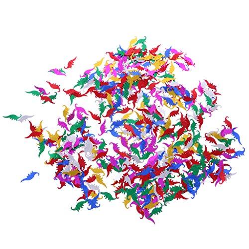 Gazechimp 1 Bolsa de Confeti para Dentro de Inviataciones y Globos con Varias Formas Decoración de Fiesta de Cumpleaños de Boda 15g - Dinosaurio