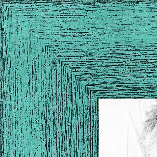 arttoframes 38,1x 45,7cm Aqua Rustikal Barnwood Holz Bilderrahmen, wom0066–83235-yaqu-15X 18