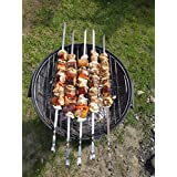 10 pièces en acier inoxydable pour barbecue grill Kabob Skewers. 1 cm-Longueur 60 cm-Largeur 2 mm d'épaisseur pour barbecue tous vos besoins.