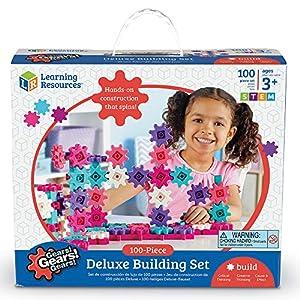 Set de construcción 100 Piezas Gears Gears Gears, de Learning ResourcesSet de construcción 100 Piezas, Color Rosa.