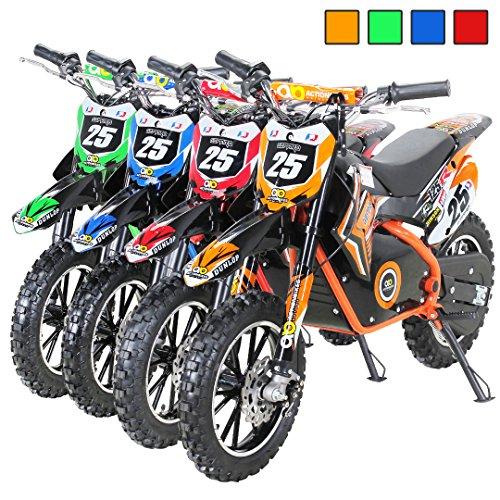 Gepard - Motocicleta mini de Enduro y motocross, para niños, eléctrica, horquilla reforzada, 500 W, 36 V