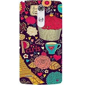 Casotec Paris Flower Love Design Hard Back Case Cover for LG G3 Stylus D690