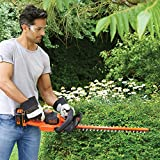 BLACK+DECKER GTC36552PC-GB Cordless Anti-Jam Hedge Trimmer with 2.0 Ah Lithium Ion Battery, 36 V, Orange, 55 cm