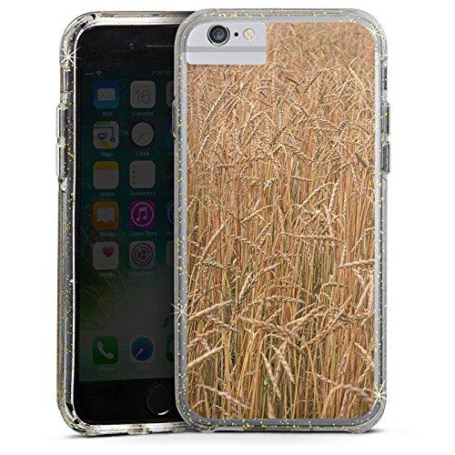 Apple iPhone X Bumper Hülle Bumper Case Glitzer Hülle Kornfeld Landschaft Champ Bumper Case Glitzer gold