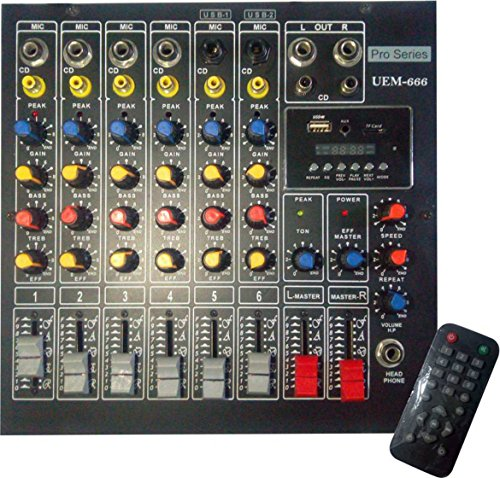VRCT 6 Channel Stereo Sound Mixing Console With Echo Wired...