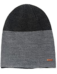37b912c01ae LETHMIK Duotone Knit Beanie Cap Unisex Slouchy Acrylic Winter Hat with Warm  Polar Fleece Lining Mix