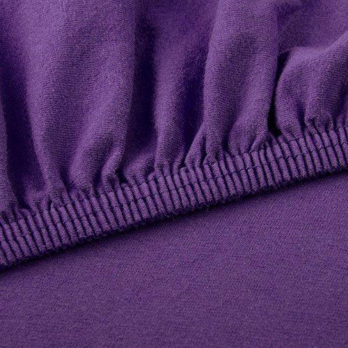 CelinaTex Lucina Spannbettlaken 180×200 – 200×200 lila Jersey Baumwolle Spannbetttuch Doppelbett Matratzen 0002811 - 3