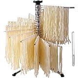 Bugucat Sèche-pâtes 16 pôles, étendoir à pâtes avec 16 échelons extensibles pour jusqu'à 2 kg de pâtes, tasses, serviettes, b