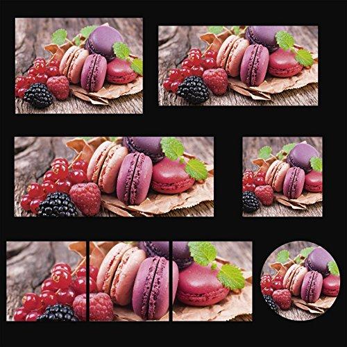 Foto Artland vetro deco picture vetro float Alimentari Bevande Dessert cjung: Maccheroni con le bacche in vari sizes're cercano in negozio rivenditore unsrem! - Ø 50 cm,