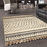 Alfombra de inspiración Berber Morocco Tribal alfombra moderna