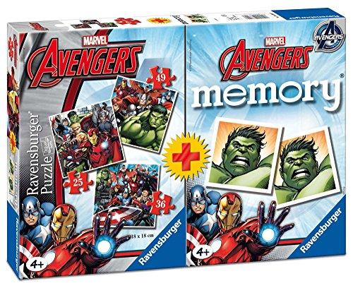 Ravensburger Avengers-Multipack de 3Casse-tête avec 1Jeu Memory 211937