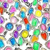 German Trendseller - 12 x Juwelen Ringe für Mädchen ┃ Edelstein ┃ Princessin ┃ Cinderella ┃ Mitgebsel ┃ Giveaway