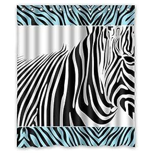 zebra wasserdicht duschvorhang 150 x 180 cm k che haushalt. Black Bedroom Furniture Sets. Home Design Ideas