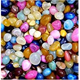 ALS Fashion Multicolour Shiny Marble Stone Pebbles For Vase Fillers Outdoor/Garden Decoration (Multicolour-1 Kg)