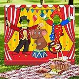 Carnevale Circo Decorazione per Feste Carnevale Portafoto Puntelli per Banner sullo Sfondo, Grande Portafoto in Tessuto Circo Carnevale Forniture per Giochi di Carnevale (Acrobazia)