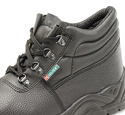 B Dos De Homens Clique Botão Sapatos O Com Negros Calçado Segurança rnHB1qr8