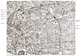 Jack the Ripper Locations Map - Whitechapel, London 1888 reproduction
