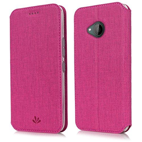 feitenn HTC U11Life Premium Flip Leder PU Wallet Smart Schutzhülle Ständer Ständer Karte Halter Magnetisch Silikon Transparent TPU Bumper Slim Dünn Schutzhülle für HTC U11Life, HTC U11 Life, Rot (Htc-handy Brieftasche Handtasche Fall)