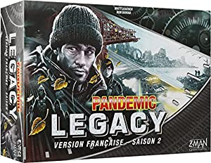 Asmodee-Pandemic-Legacy Negro Saison 2, pan08black, no precisa