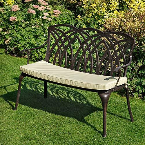 Lazy Susan – APRIL Gartenbank aus Aluminium, Antik Bronze - 4
