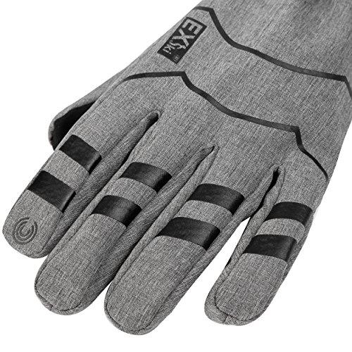 MCTi Winter Warm Arbeits Handschuhe Fahrrad Radfahren Touchscreen Thinsulate mit Wasserdicht TPU Herren Damen - 4