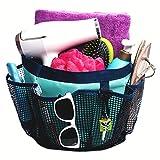 Fancii schnelltrocknender Dusch-Organiser mit 7 Netztaschen und Schlüsselhaken – tragbare, wasserbeständige Kulturtasche für Wohnheim, Reise, Fitnessstudio und Camping