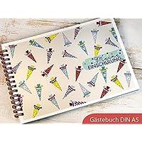 Gästebuch DIN A5 für Einschulung Schulanfang Motiv Schultüte